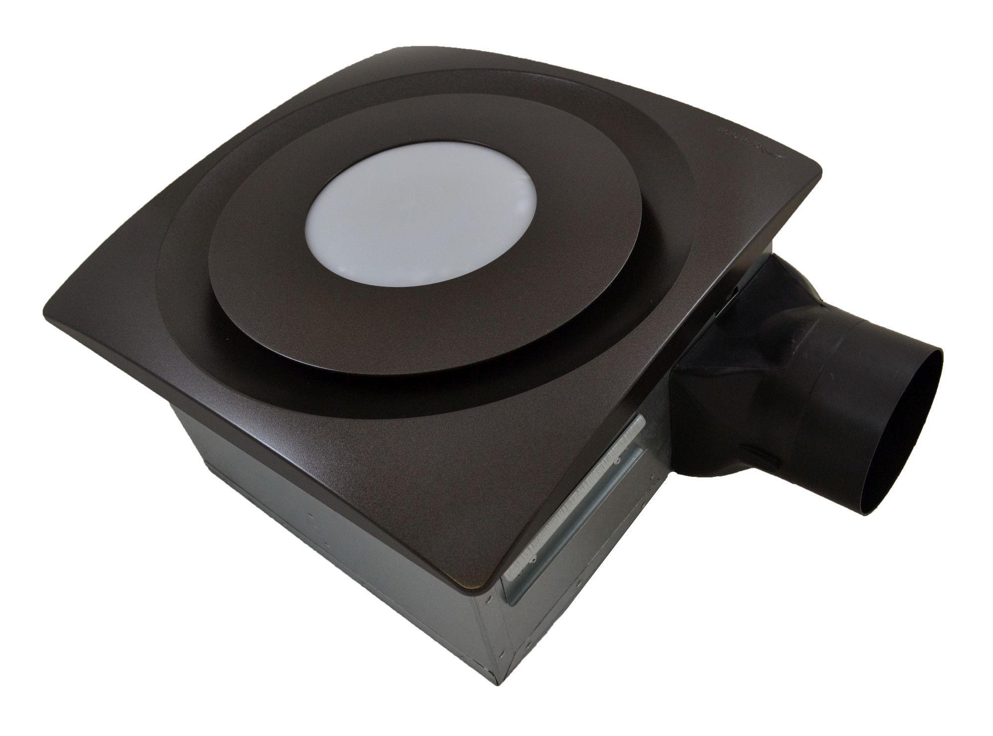 SlimFit 90 CFM Bathroom Fan with Light and Sensor