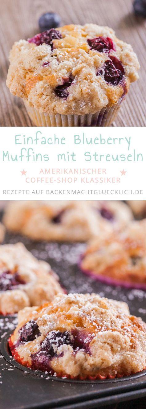 Blueberry Muffins mit Streuseln – rezepte