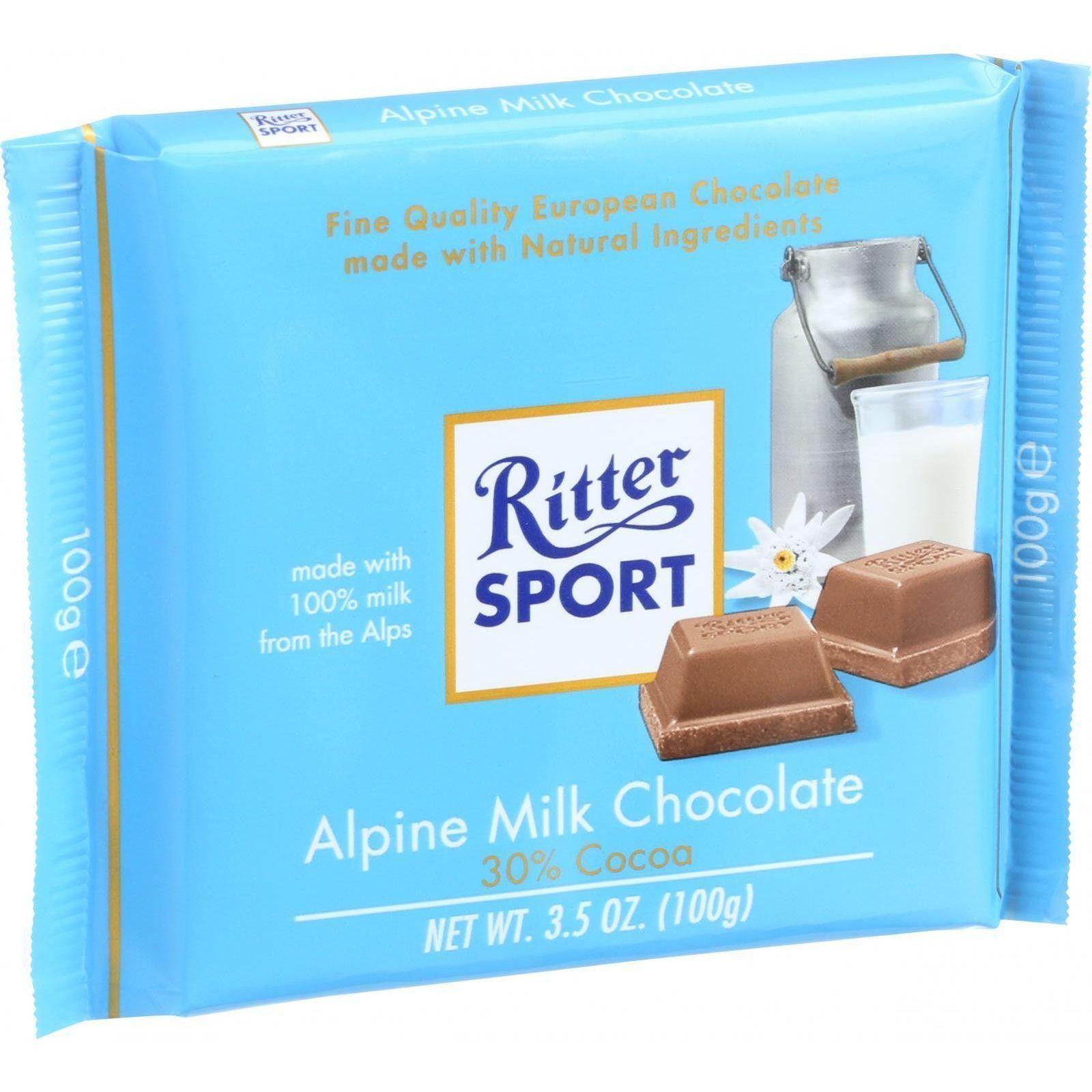 Ritter Sport Chocolate Bar Milk Chocolate 30 Percent