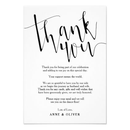 Rustic thank you card wedding rustic thank you card wedding wedding invitations cards custom invitation card design marriage party stopboris Image collections