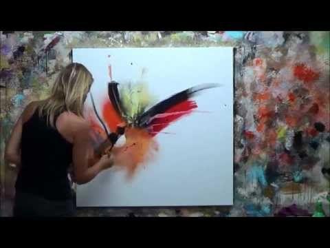 D monstration de peinture abstraite 7 elisabeth toile for Toile abstraite