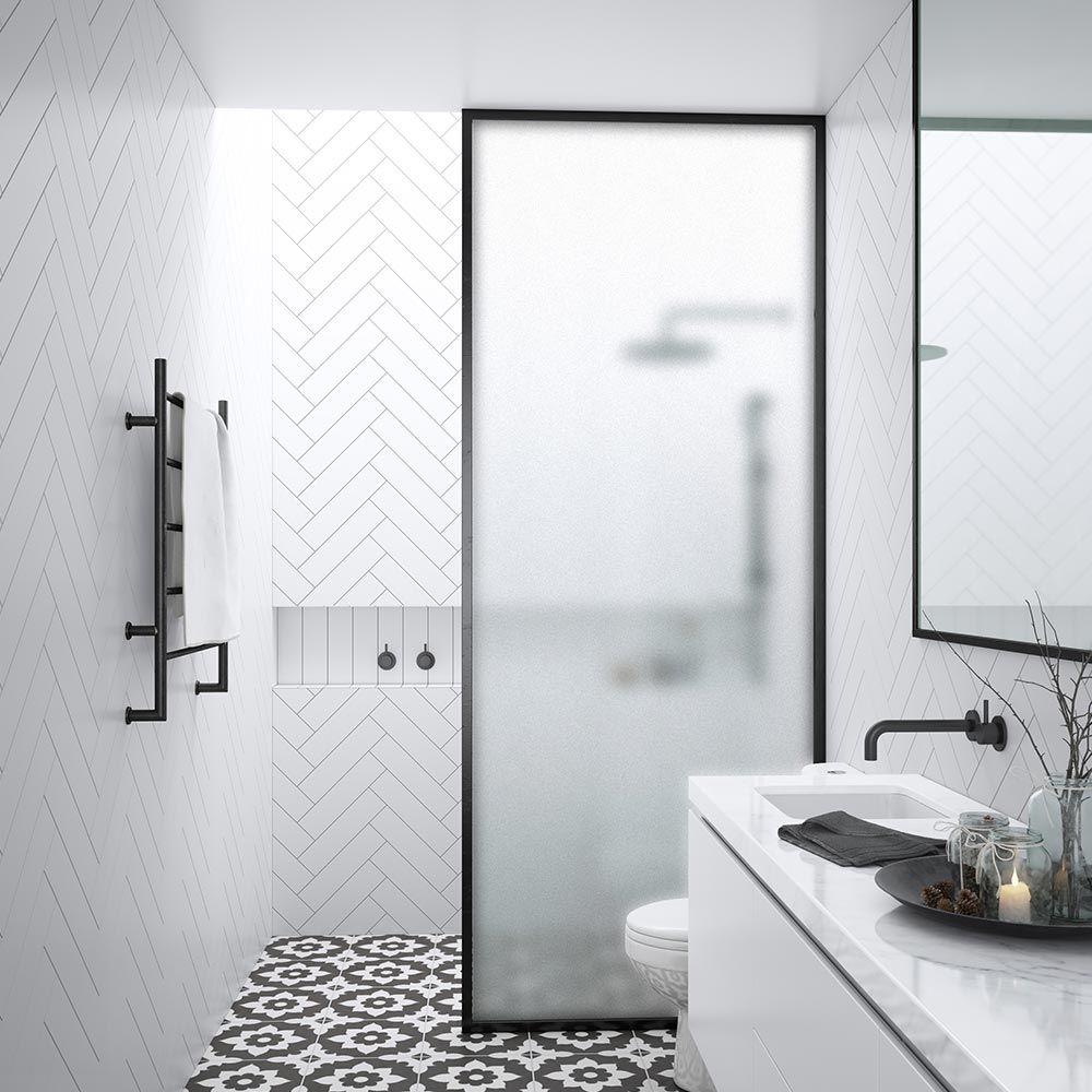 Harbour Status Matt Black Frame 10mm Easy Clean Walk In Panel Frosted Glass Bathroom Remodel Shower Bathroom Remodel Cost Shower Remodel