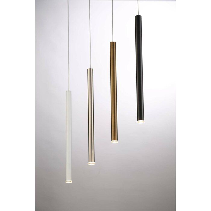 Tecca 1 Light Led Single Cylinder Pendant In 2020 Led Lights Glass Pendant Light Interior Lighting