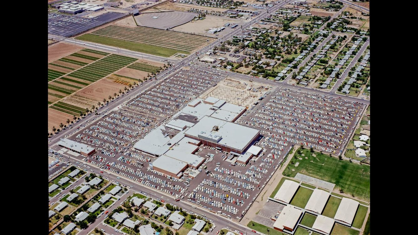 1968 aerial view of tricity mall Mesa AZ  Memories in