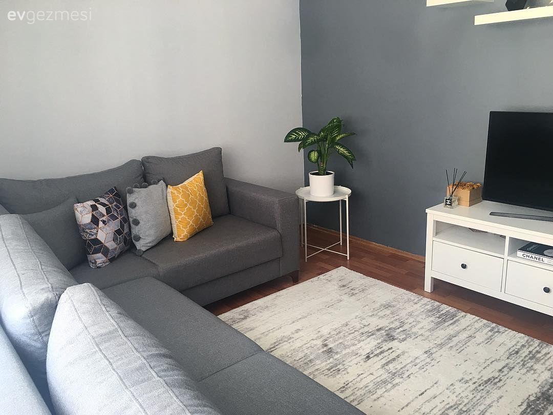 Her odada uyumlu renk ve stillere yer verilmiş, duru ve şık bir ev.. | Ev Gezmesi