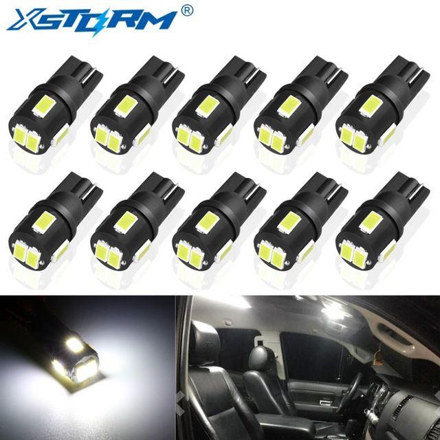 10pcs T10 W5w Led Bulb 194 168 Car Interior Dome Reading Lamp License Plate Light Clearance 6000k White 12v Auto Led Bulb Review Led Bulb Car Led Reading Lamp
