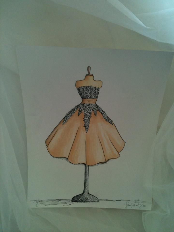 Custom wedding gown sketches now offered by our bridal consultant ...
