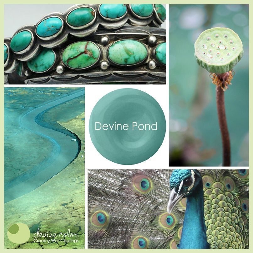 Aquamarine Paint Colors Via Bhg Com: Devine Pond Color Inspiration. #devinecolor #aqua