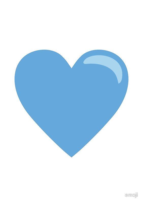 Blue heart emoji meaning