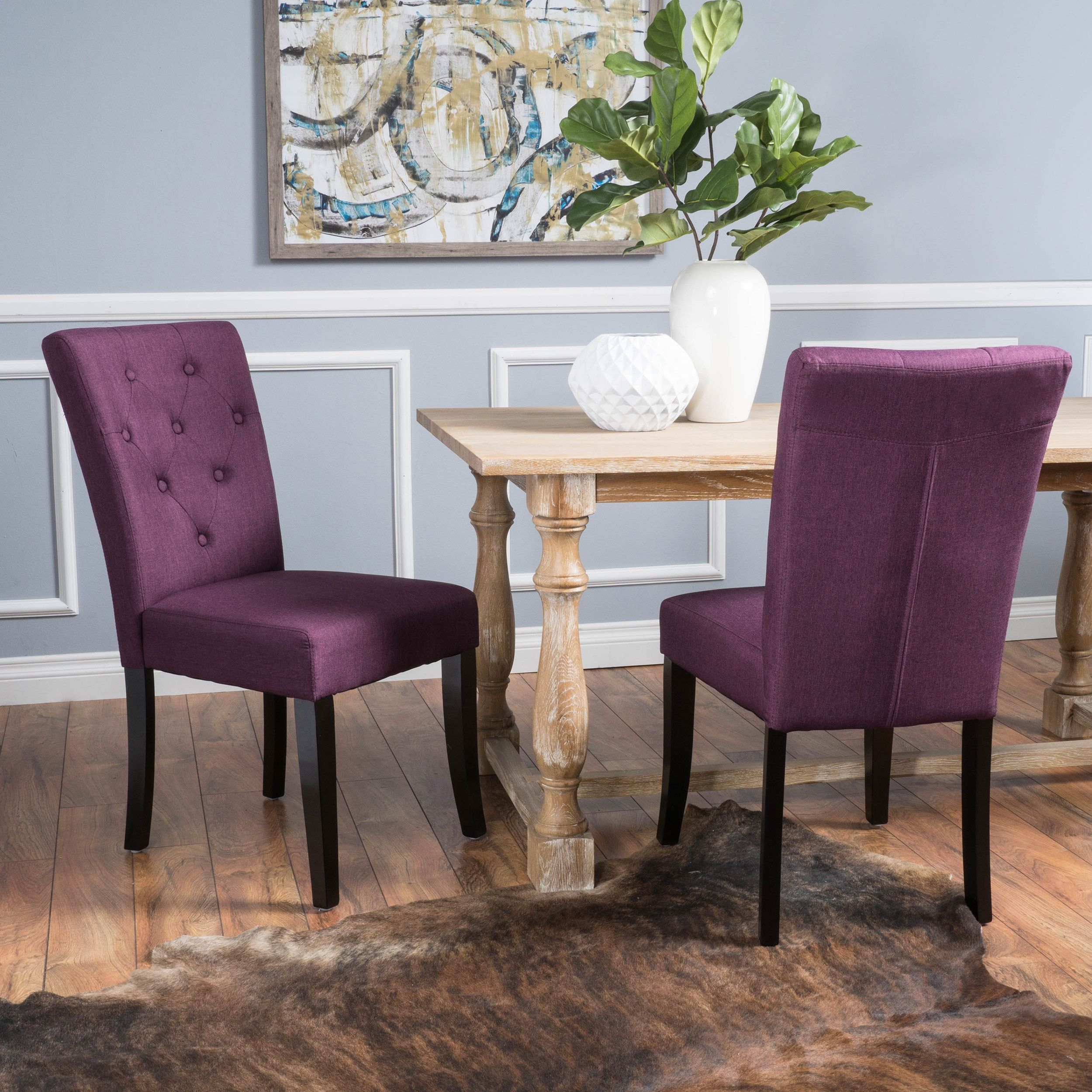 Nyomi Fabric Dining Chair Set of 2