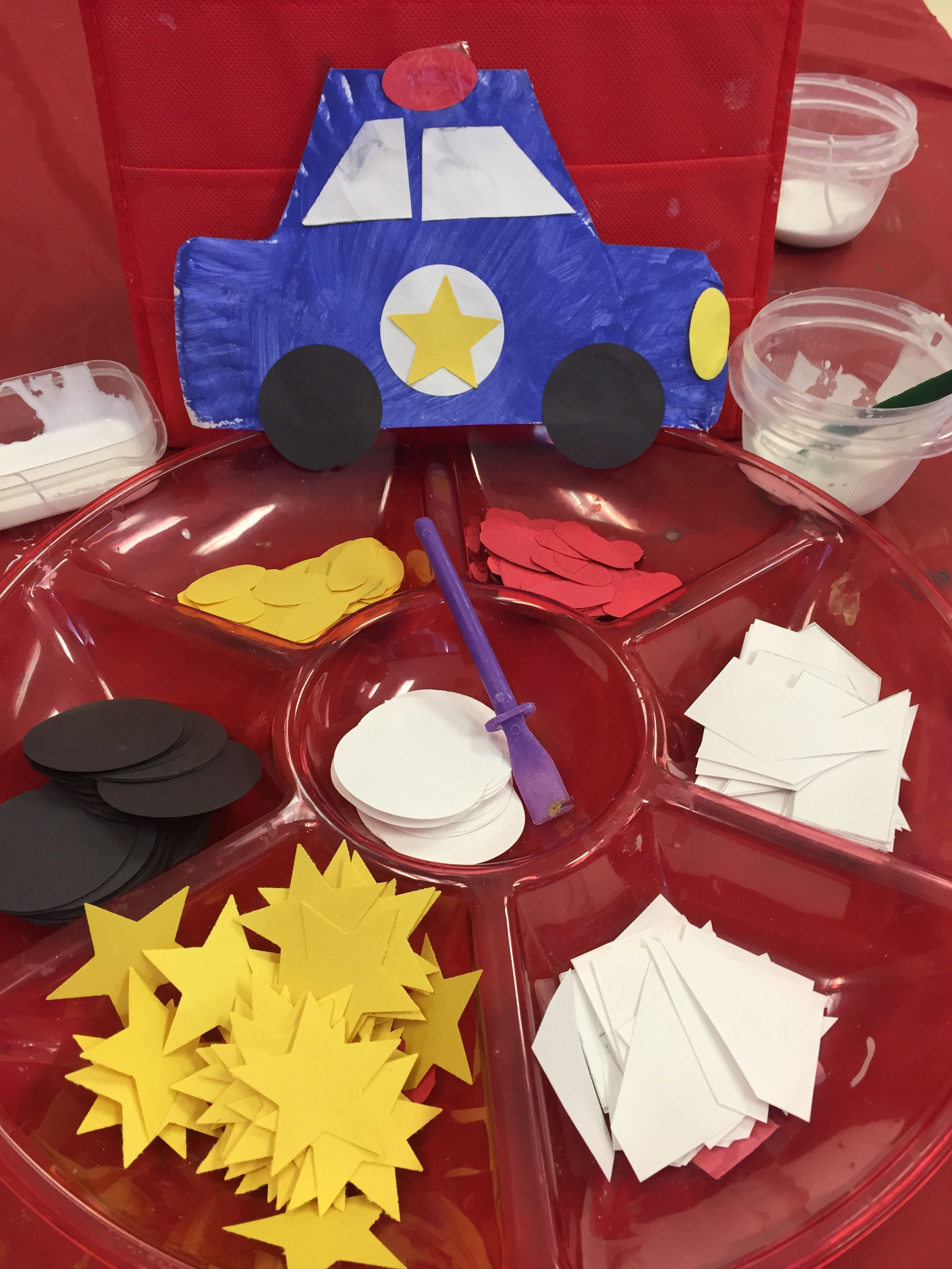 Police Car Preschool Activity With Shapes Math