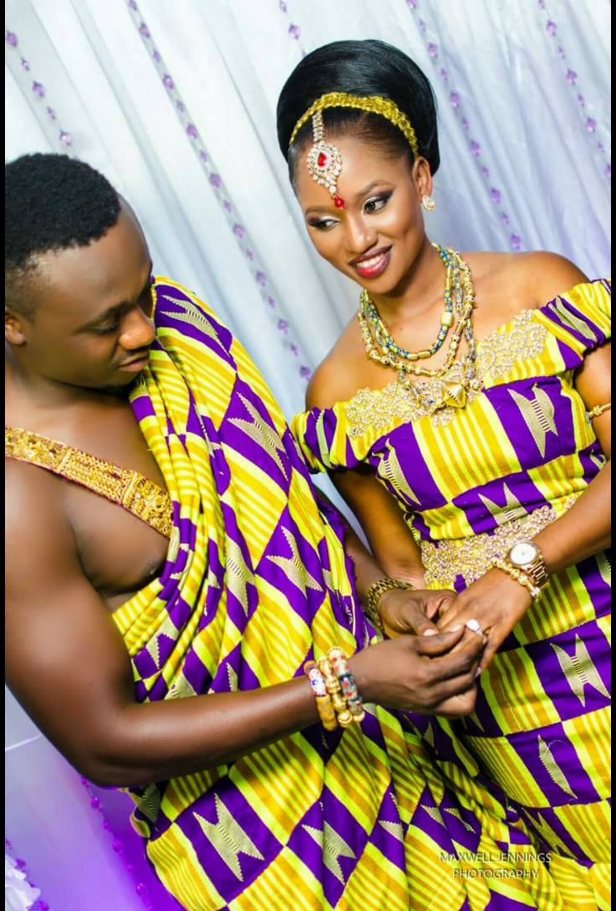 I Do Ghana | James & Unity\'s Traditional Wedding | Kente wedding ...