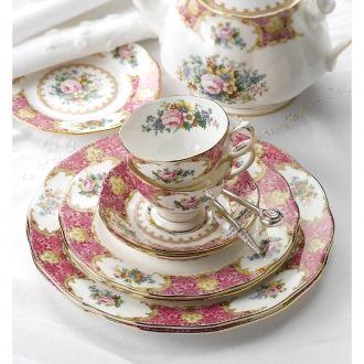 Royal Albert Lady Carlyle Tableware 11 Piece Teaset China Tea Vintage Tea Tea Cups