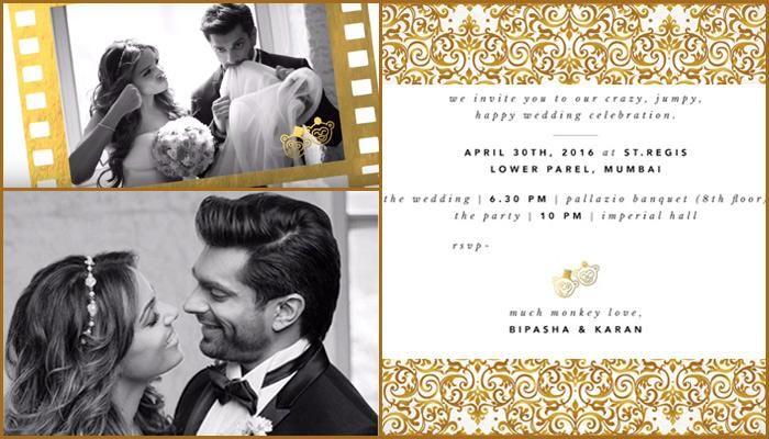 10 Most Interesting Wedding Invites Of Bollywood Celebrity Couples Wedding Celebration Invitation Indian Wedding Invitations Wedding Invitation Cards