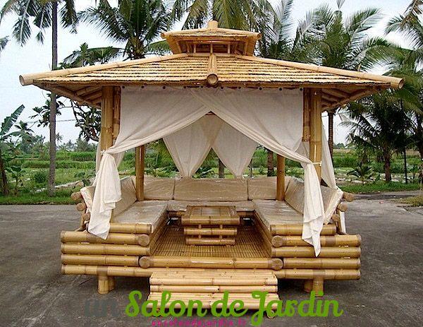 Image result for fabriquer un salon de jardin en bambou