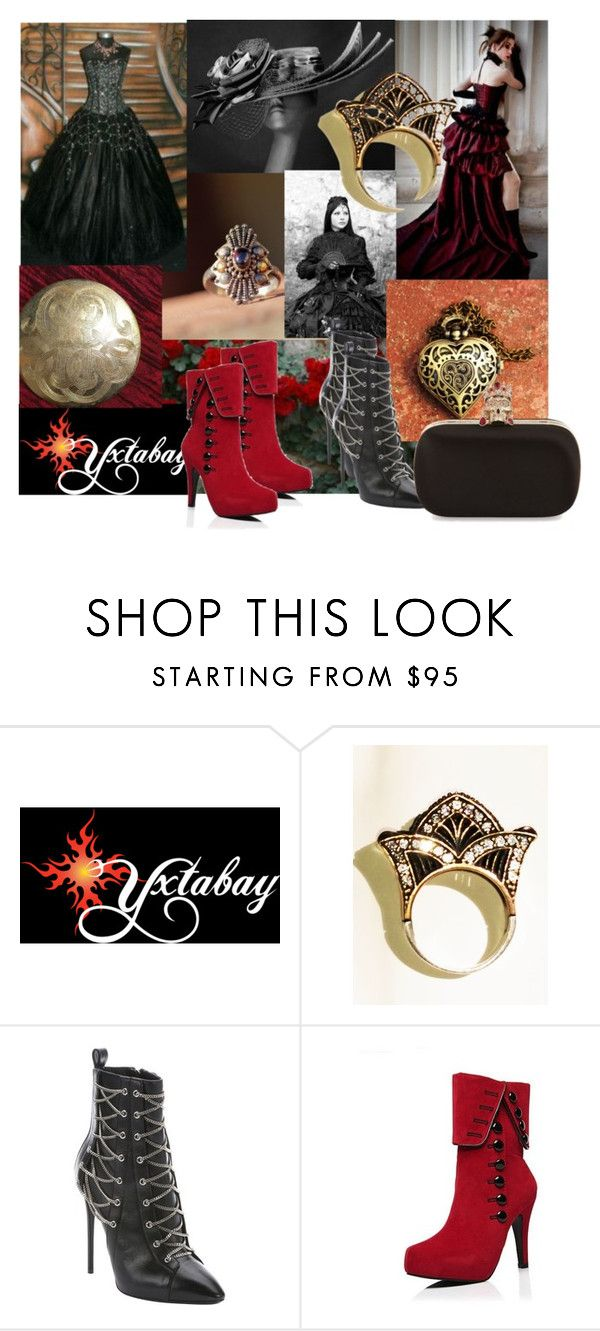 """""""Victorian Gowns"""" by yxtabay ❤ liked on Polyvore featuring Giuseppe Zanotti, Alexander McQueen, jewelry and Yxtabay"""