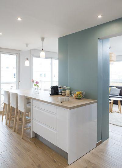 Un bain de lumi re am nagement r novation appartement - Cuisine architecte d interieur ...