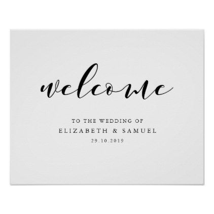 Welcome to the wedding sign - script gifts template templates diy ...