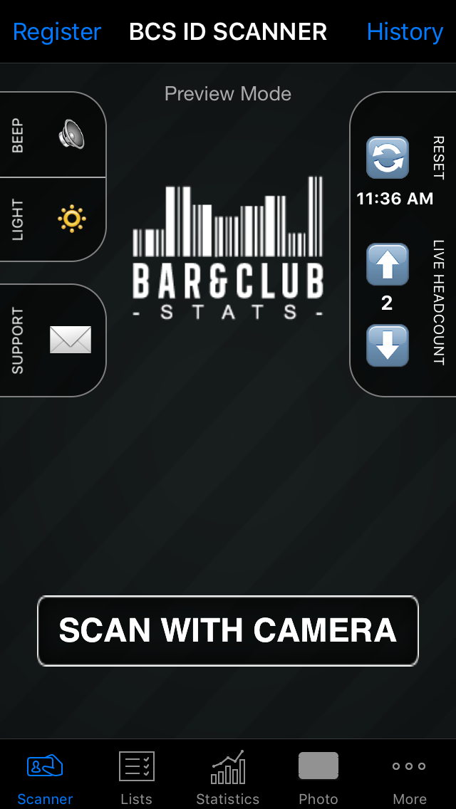 Download our app for free and start scanning IDs