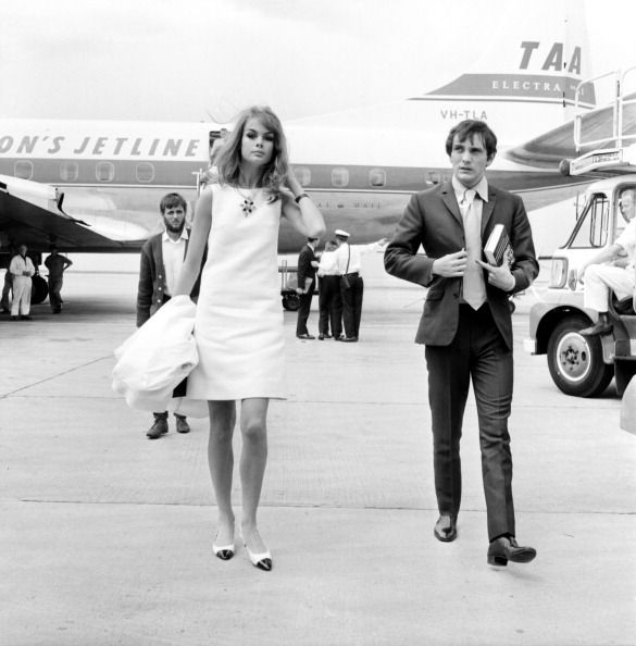 Business travel.(love how the trend of pointy-toed flats is back) Classy never goes out of style