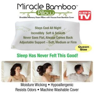 Miracle Bamboo Magic Pillow As Seen On Tv Memory Foam Pillow Bamboo Pillow Memory Foam Pillow Sleep