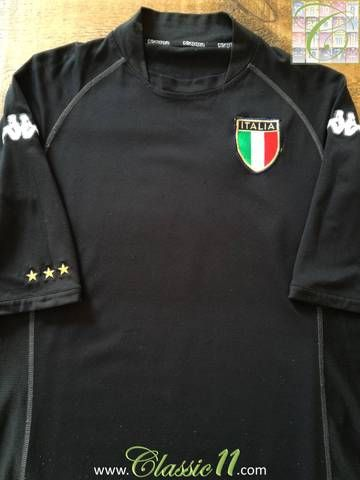 d23b70f08d8 Official Kappa Italy goalkeeper football shirt from the 2002/2003  international season.
