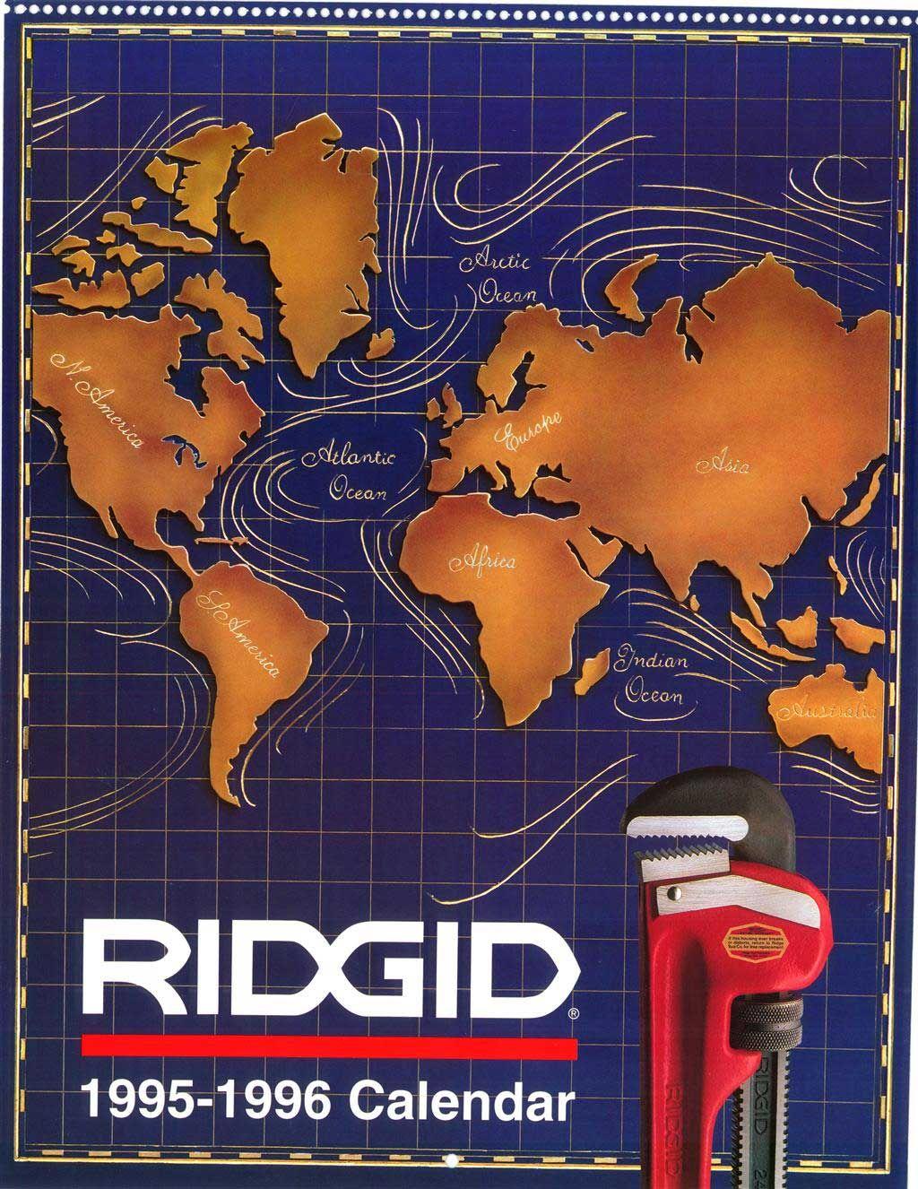 Ridgid Calendar 1995 1996 Cover Photo Calendar 1995 Calendar