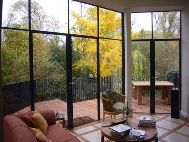 Uitbouw glas staal uitbouw pinterest staal en keuken - Binnenkomst layouts ...