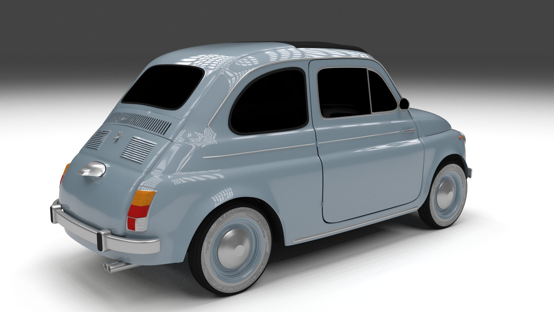 Fiat 500 Nuova 1957 Hdri 3d Model Nuova Fiat Model Hdri