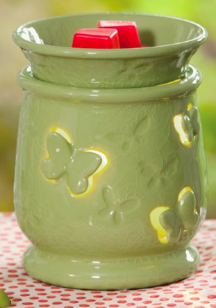 """Scentsy """"Flutterby"""" February 2012 Warmer-Of-The-Month."""