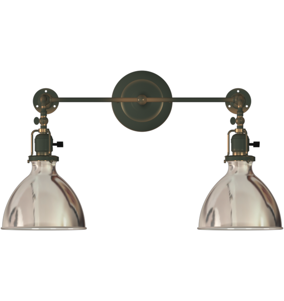 Grandview Double Sconce 2 Light Adjule Wall