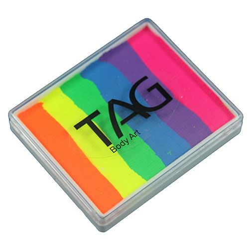 Tag Split Cake Neon Rainbow 1 76 Oz 50 Gm Neon Face Paint Rainbow Face Paint Tag Face Paint
