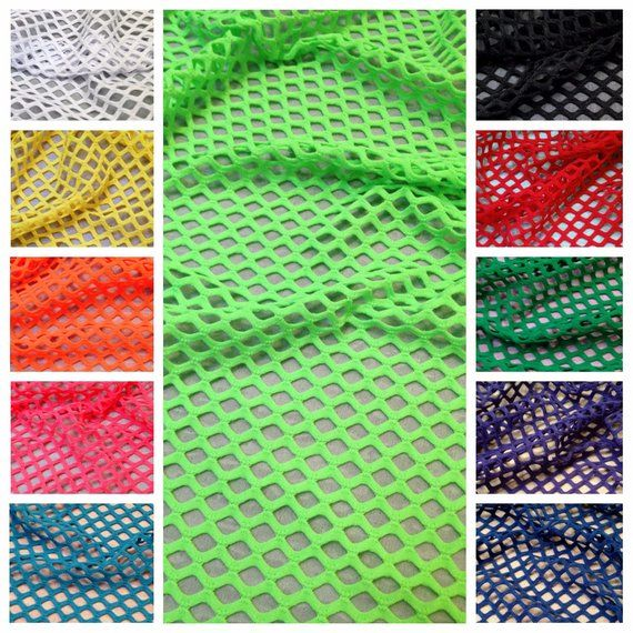 Colorful Big Hole 0 5 Inch Diamond Mesh Stretch Polyester Spandex Fishnet Fabric 58 To 60 Inches Wide By The Yard Mesh Fabric Mesh Fabric