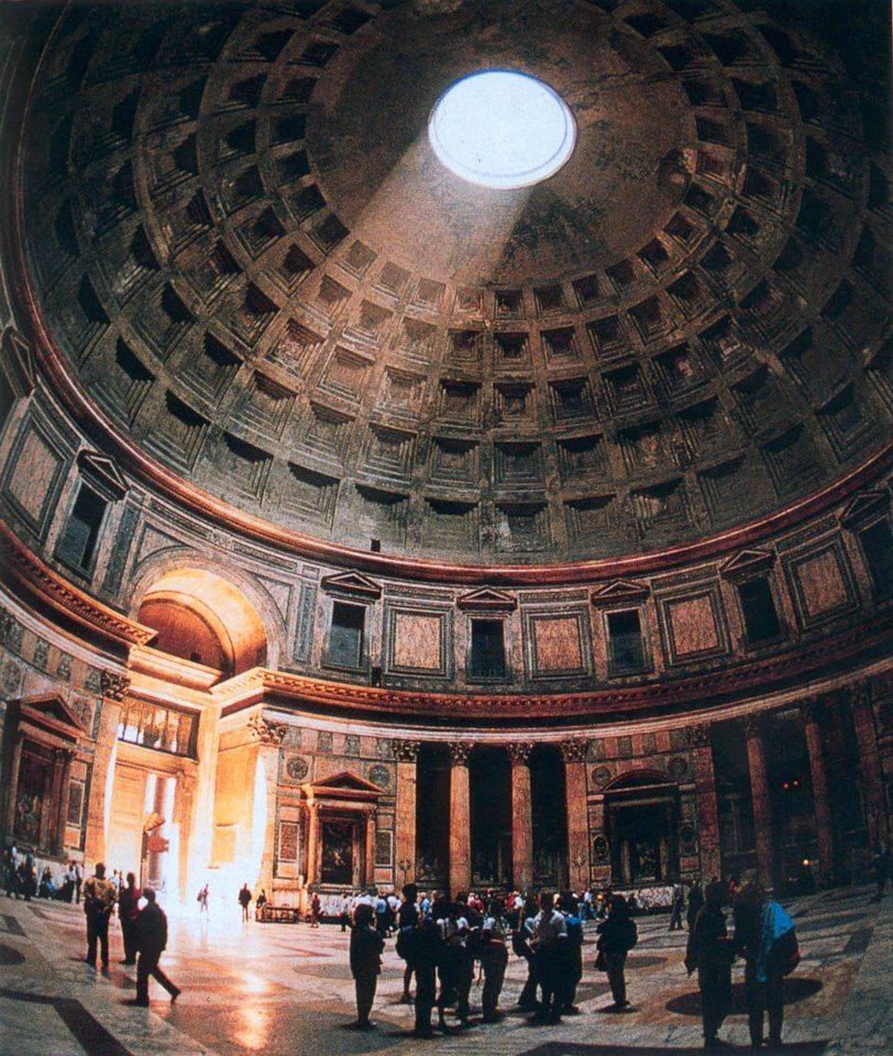 Pantheon interior by apollodorus of damascus syrian for Interior design roma