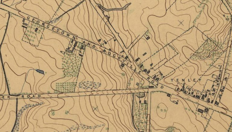1892 Map of Rural Area Around Tenleytown Ghosts of DC in