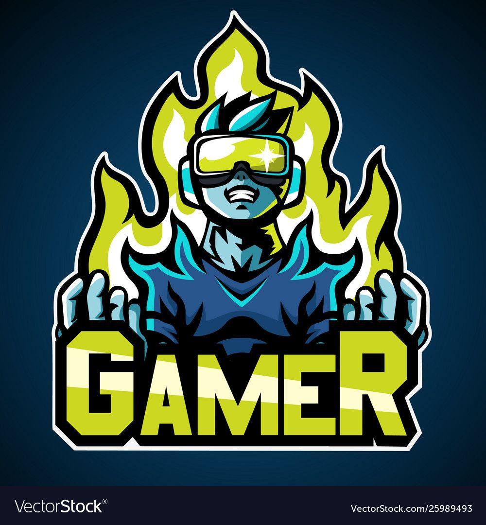 Gamer mascot logo sticker design vector image on