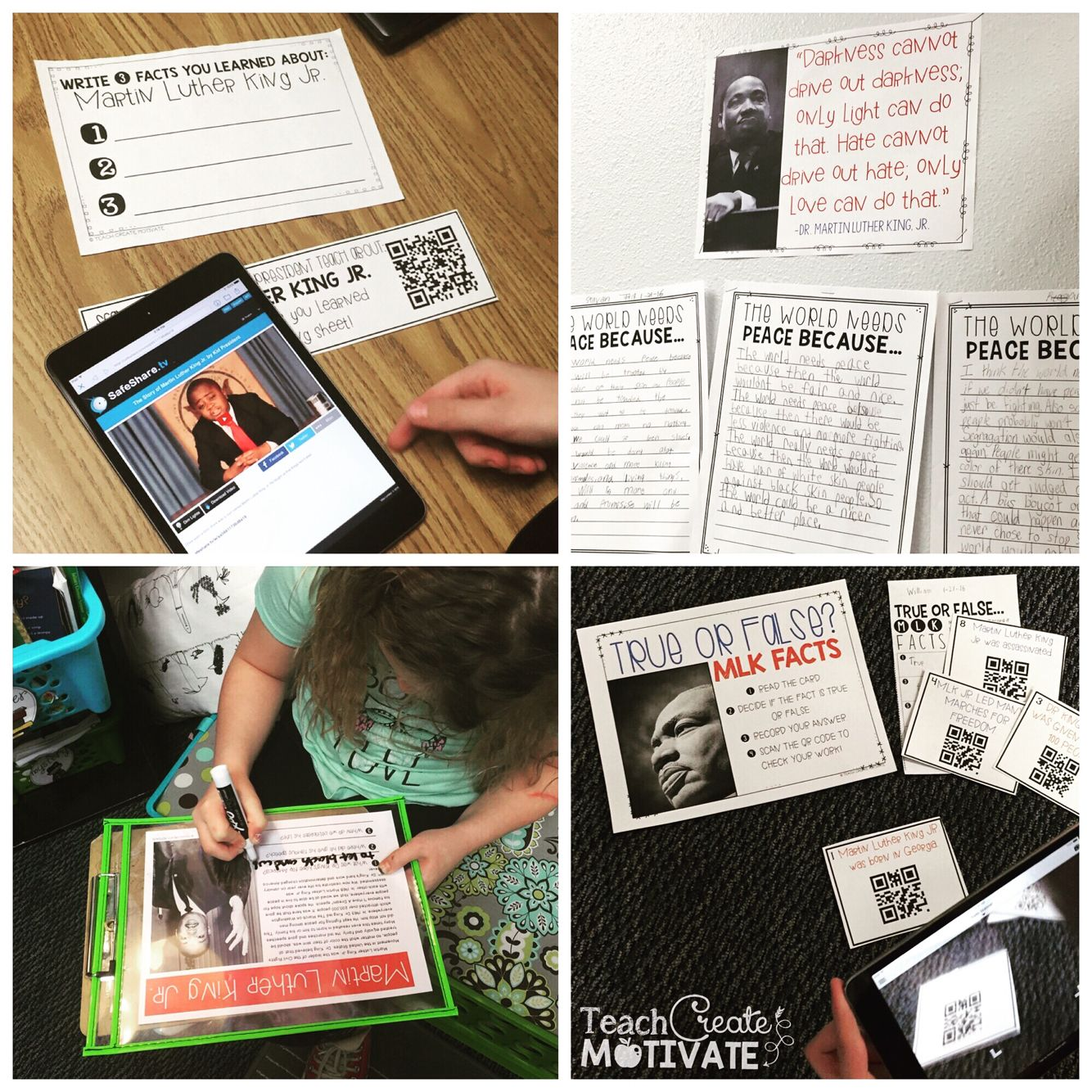 Martin Luther King Jr Activity Pack