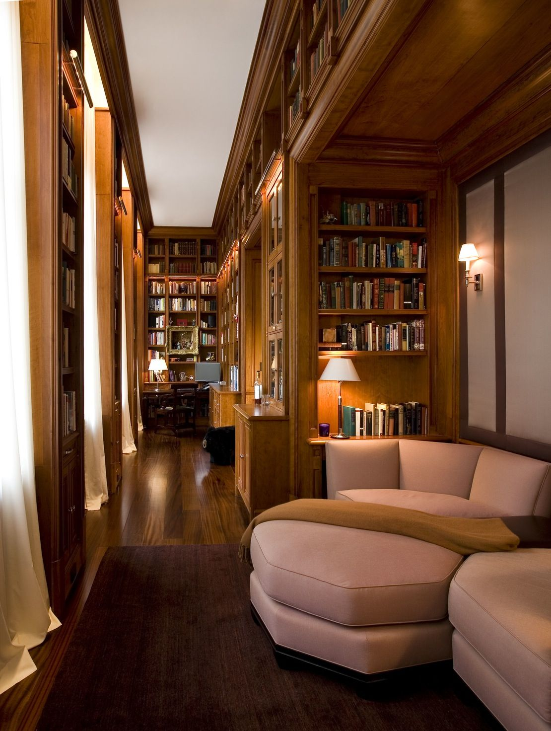 Contemporary Home Library Design: Cozy Home Library, Home, Home