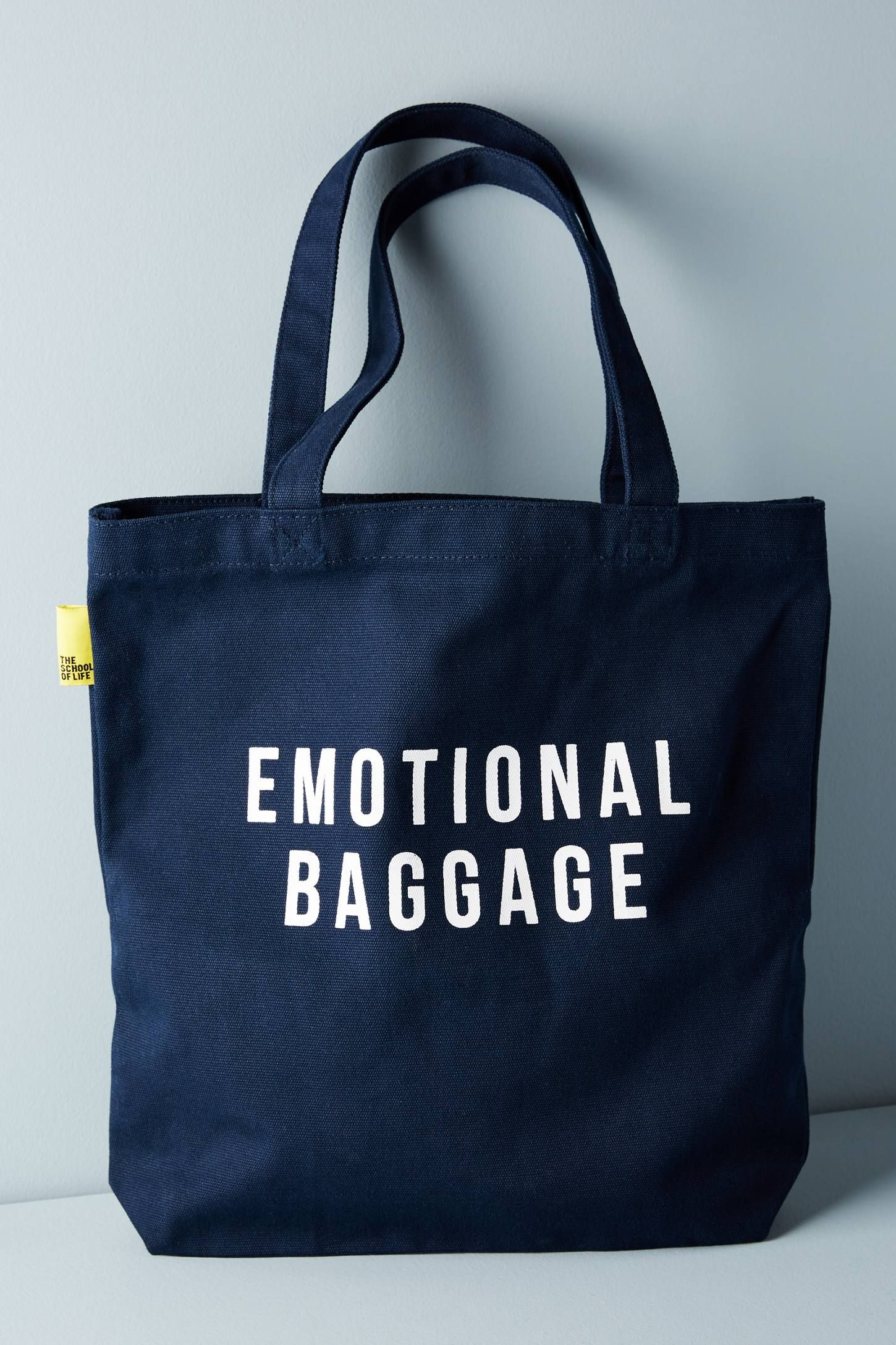 The School of Life Emotional Baggage Tote Bags, Canvas