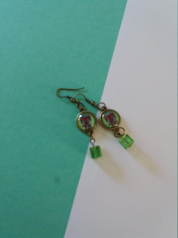 Booba Feet earrings, Star wars inspired / Orecchini Star Wars con immagine di…