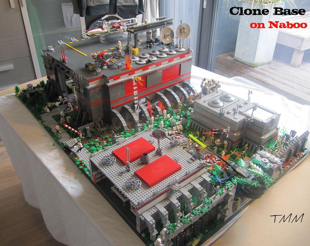 Lego star wars clone base on naboo lego star wars lego star and lego - Lego star wars base droide ...