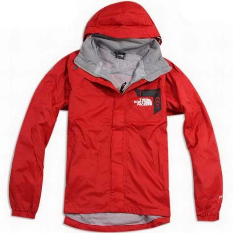 Womens The North Face Hyvent Jacket Waterproof Red | North Face ...