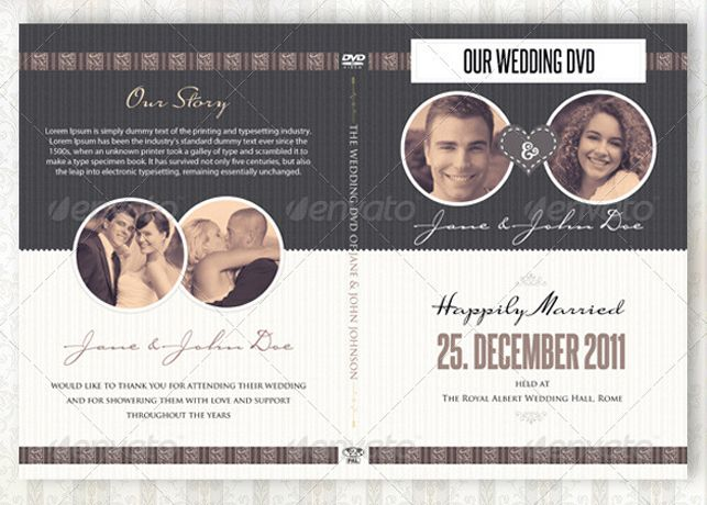 Vintage Wedding DVD Covers and Disc Label Template is great for your ...