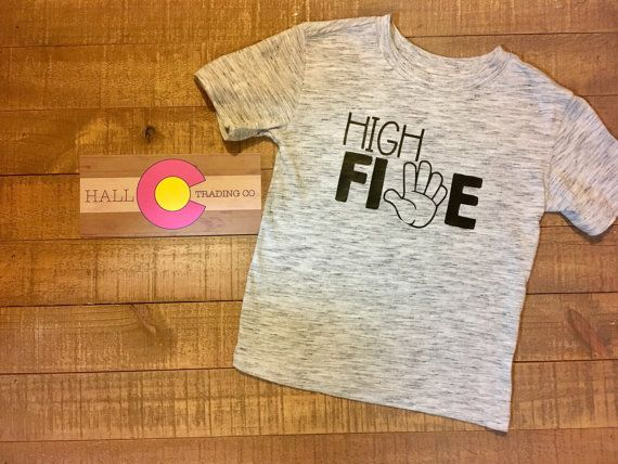 High Five T Shirt 5 Year Old Birthday