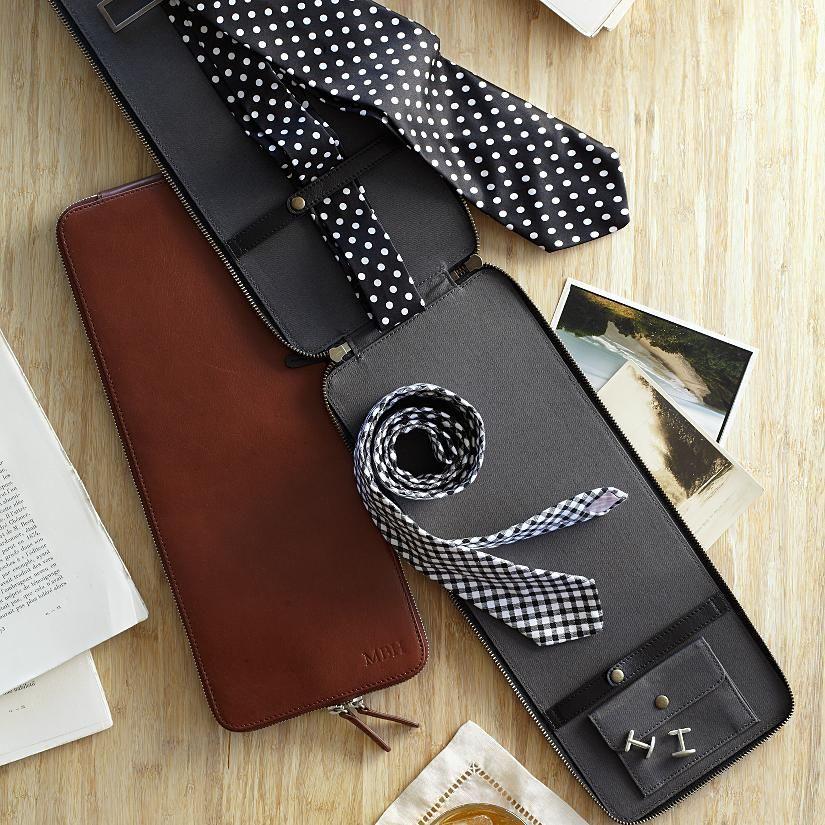 CESPINS❤ #valentines  leather tie + accessories case from RedEnvelope.com