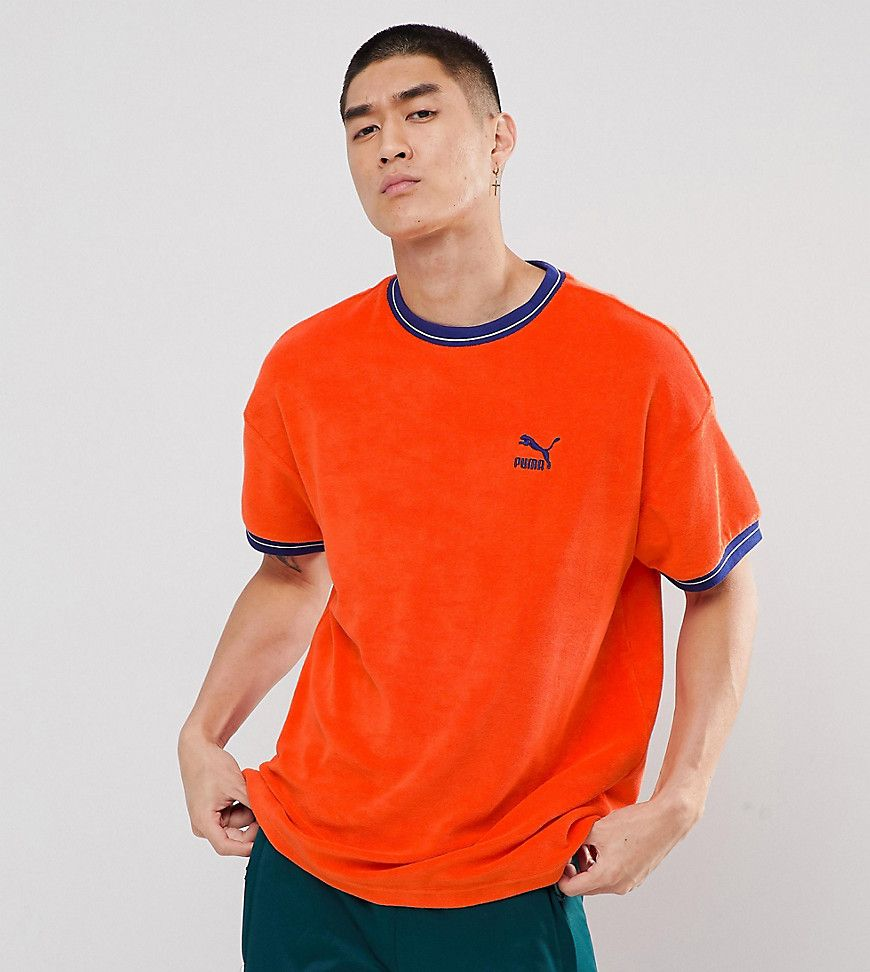 f16d7756e68 PUMA TOWELLING T-SHIRT IN ORANGE EXCLUSIVE TO ASOS - RED. #puma #cloth #