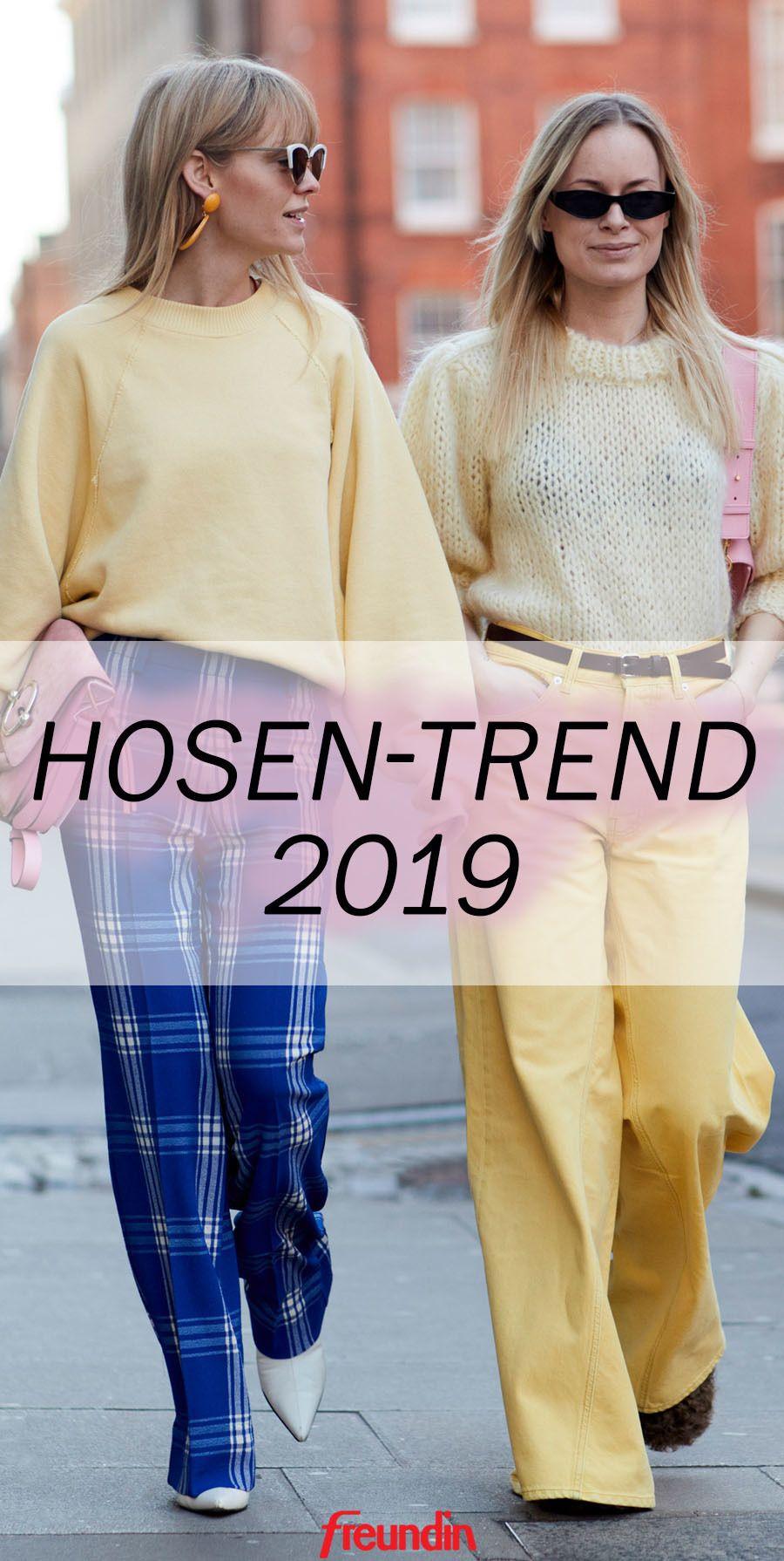 Turnschuhe ungleich in der Leistung Modestil von 2019 Dieser Hosen-Trend begleitet uns 2019 | Modetrends 2019 ...