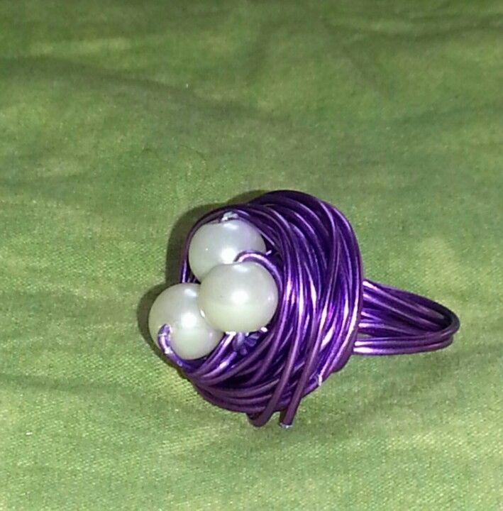 anillo en lila