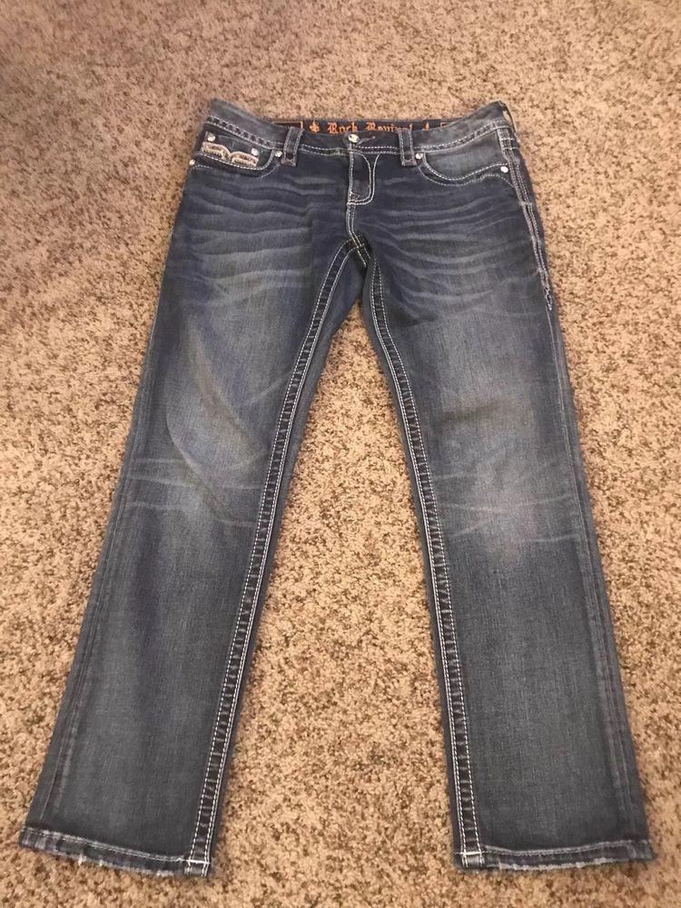 ca6c8376c83dc Rock Revival Womens Pilkin Crop Jeans Size 30 EUC  fashion  clothing  shoes   accessories  womensclothing  jeans (ebay link)