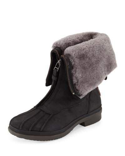 1f463cae4af Arquette Waterproof Shearling Boot Black | *Neiman Marcus ...